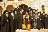 New Abbot of Mt. Athos Grigoriou Monastery enthroned
