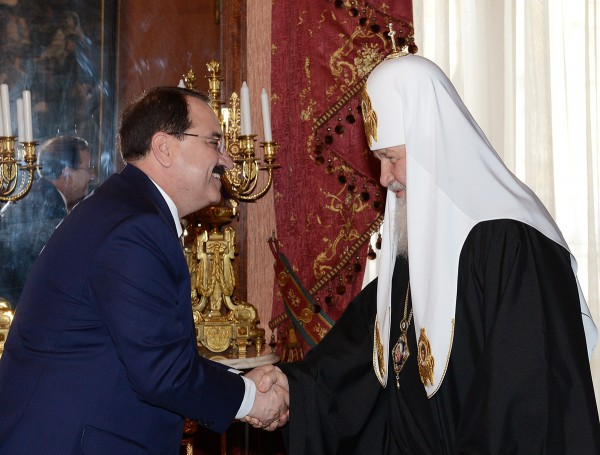 His Holiness Patriarch Kirill meets with Syrian Ambassador to Russia