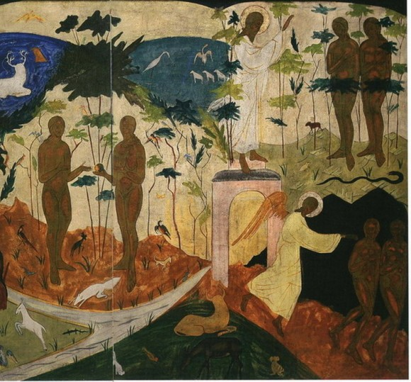 The story of Adam and Eve. Painted by Sister Joanna  Reitlinge.