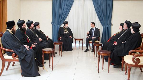 Syria's Al-Assad receives Syriac Orthodox Church's new patriarch