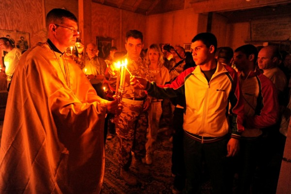 Fr. Sean shares the light