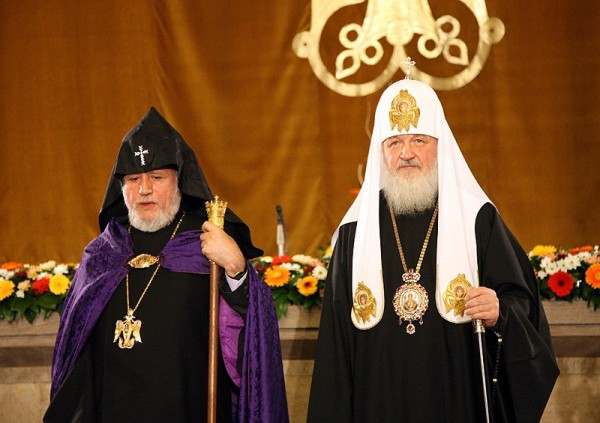 His Holiness Patriarch Kirill meets with Supreme Patriarch and Catholicos of All Armenians, Karekin II