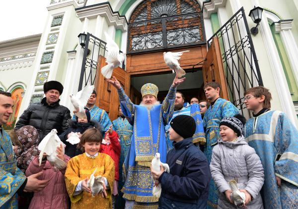 Празднование Благовещения Пресвятой Богородицы в Челябинске