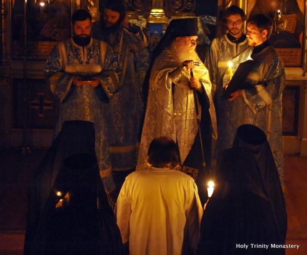 Priest Nicholas Olhovsky, Elected Bishop of Manhattan, is Tonsured in Holy Trinity Monastery
