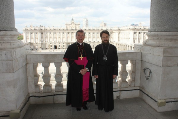 Metropolitan Hilarion of Volokolamsk meets with Catholic Archbishop of Madrid