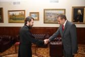 Metropolitan Hilarion of Volokolamsk meets with Slovenia's Ambassador