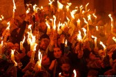 Holy Fire appears at Church of the Holy Sepulcher in Jerusalem