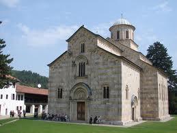 KLA graffiti appear on gate of Serb Orthodox monastery