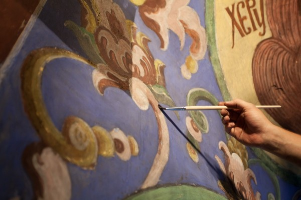 First Service in the Renovated Dormition Cathedral at the Holy Trinity-St. Sergius Lavra