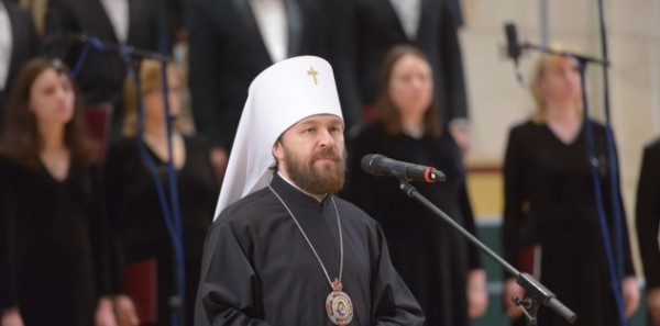 Metropolitan Hilarion takes part in the opening of choral part of the 13th Moscow Easter Festival