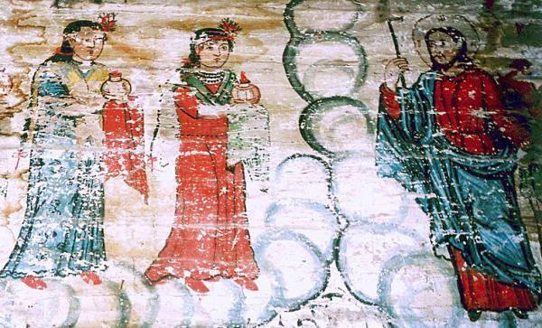 Christ greeting the wise virgins; Sacalu Church, c. 1816
