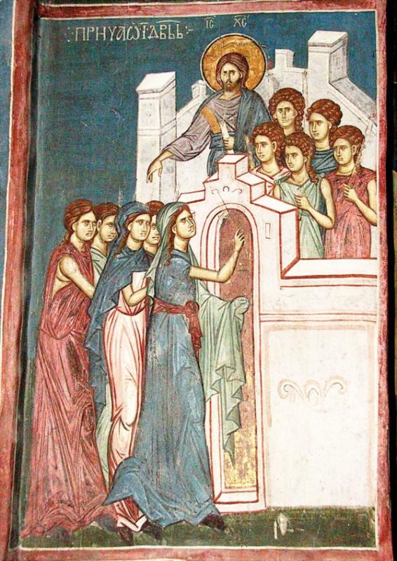 Fresco from High Decani Monastery, Kosovo, Serbia (14th century)