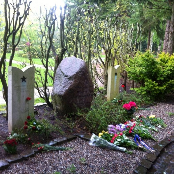 The graves of Russian soldiers in Aarhus
