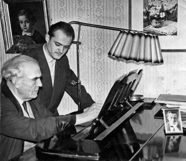Mr. Pärt with his composition professor Heino Eller, in the early 1960s at Tallinn Conservatory. Credit Arvo Pärt Center