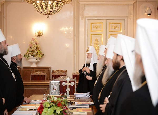 The Holy Synod of the Russian Orthodox Church meets for regular session in St. Petersburg