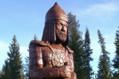 In the Sverdlovsk region, a sculpture of St. Alexander Nevsky made out of a coeval linden tree has been erected