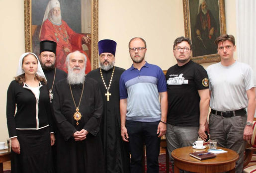 Representatives of the Synodal Department of the Moscow Patriarchate meet with the Serbian Patriarch