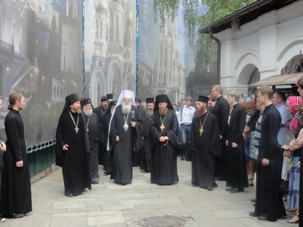 Delegation of Bulgarian Orthodox Church visits Sretensky monastery in Moscow