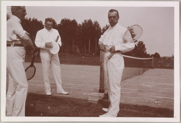 Emperor Nicholas II on the tennis court, 1912