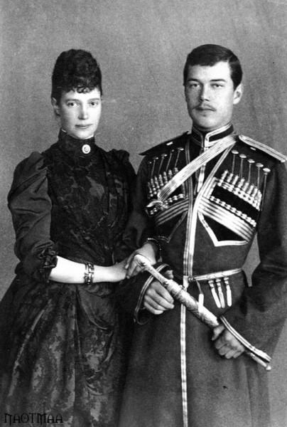 Empress Maria Feodorovna with her son, Tsarevich Nicholas Alexandrovich, 1890