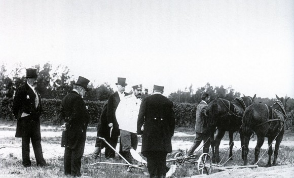 Testing a plow in the presence of Emperor Nicholas II