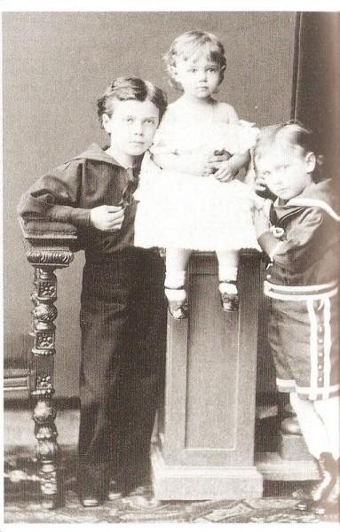 Nicholas, George, Xenia, 1877.