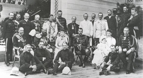 Tsarevich Nicholas visiting the Royal Family of Greece, 1890