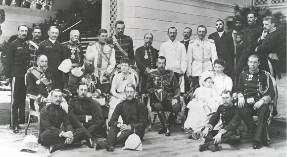 Tsarevich Nicholas visiting the Royal Family of Greece, 1890