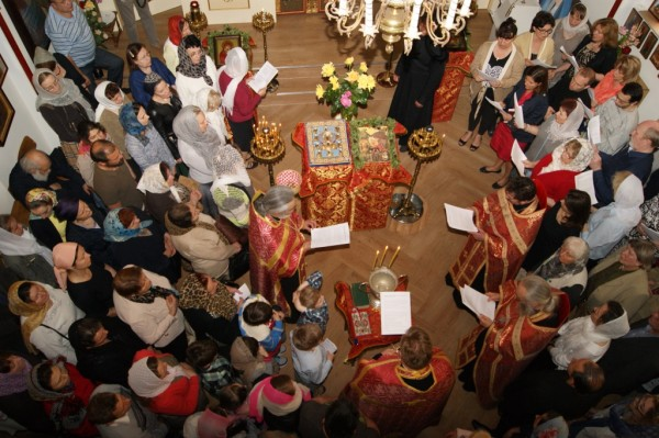Orthodox faithful in Dusseldorf venerate miracle-working Kursk Icon of Our Lady-in-the-Roots