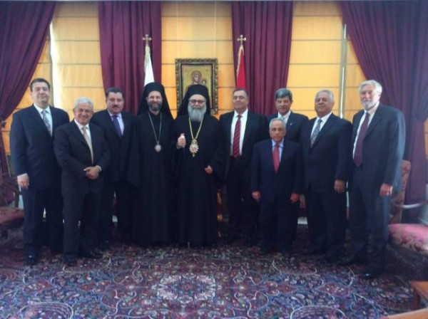 Patriarch John X Receives Metropolitan Silouan and Delegation from Archdiocese Board of Trustees