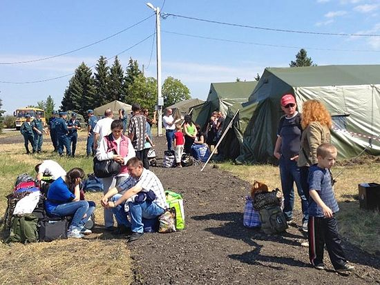 Camp Churches Arranged in Centers for Ukrainian Refugees