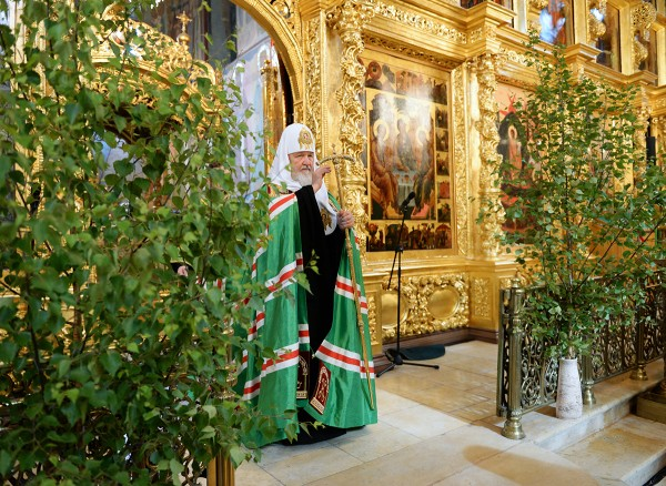Patriarch Kirill of Moscow and All Russia visited the Holy Trinity- St. Sergius Lavra