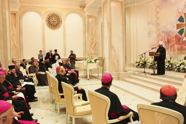 Metropolitan Hilarion of Volokolamsk speaks at the opening of the 4th European Orthodox-Catholic forum in Minsk