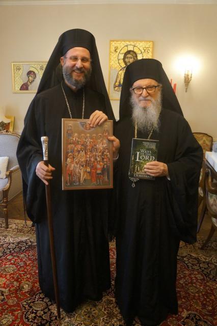 Metropolitan Silouan Visits Archbishop Demetrios