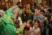 Patriarch Irineј at the Russian church in Belgrade