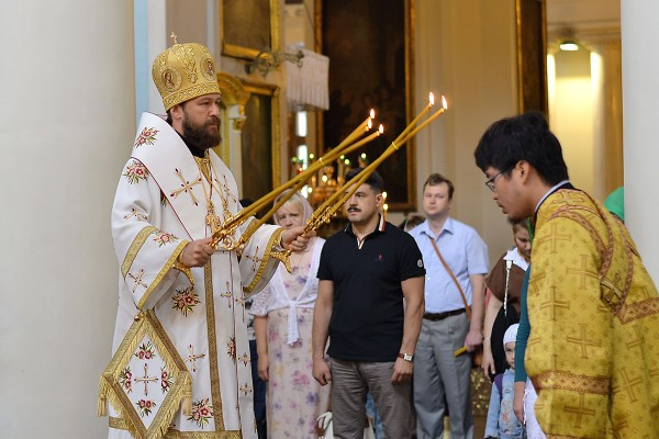 Metropolitan Hilarion's birthday falls on the commemoration day of St. Olga-Equal-to-the-Apostles