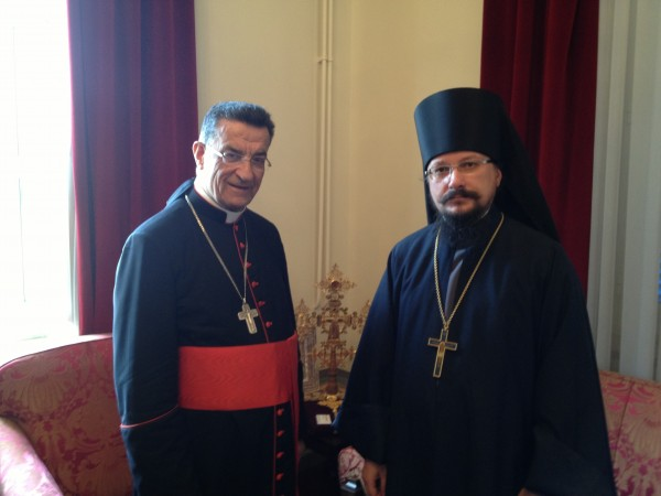 Representative of Patriarch of Moscow and All Russia to Patriarch of Antioch and All the East meets with Patriarch of the Maronite Church