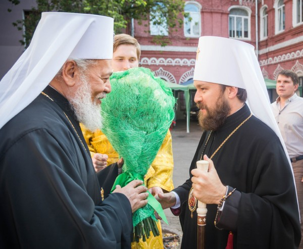 Representatives of Local Orthodox Churches celebrate Divine Service at Representation of Orthodox Church of Antioch in Moscow on feast day of the Synaxis of Archangel Gabriel