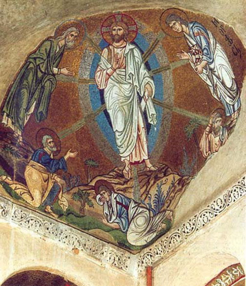 Mosaic from the Dormition Church in Daphne. Circa 1100. Greece.