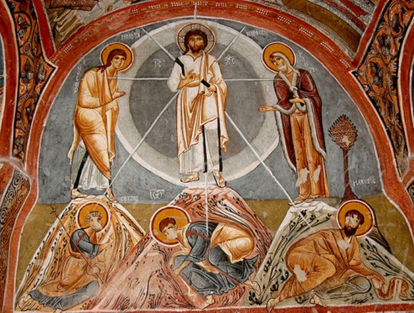 "Fresco from the so-called ""Dark Church"" (Karanlik Kilise). Twelfth century. Goreme, Cappadocia, Turkey."