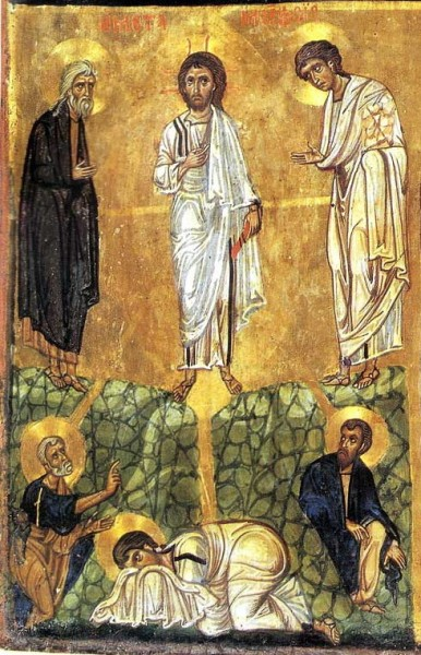 Triptych icon. Twelfth century. St. Catherine's Monastery on Mount Sinai, Egypt. Fragment.