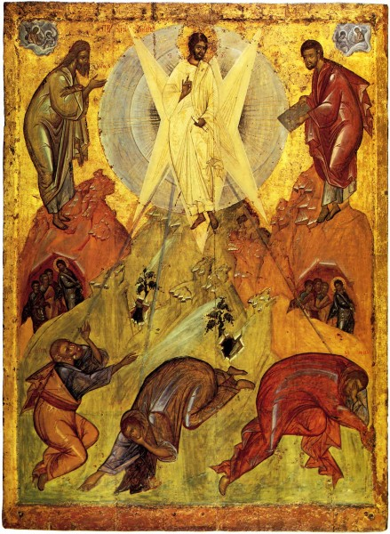 Icon from the Holy Transfiguration Cathedral in Pereslavl. Circle of Theophan the Greek. Circa 1403.