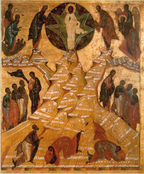 Icon from the Dormition Cathedral of the Monastery of St. Cyril of White Lake. Circa 1497. Museum-Reserve of Cyril of White Lake.