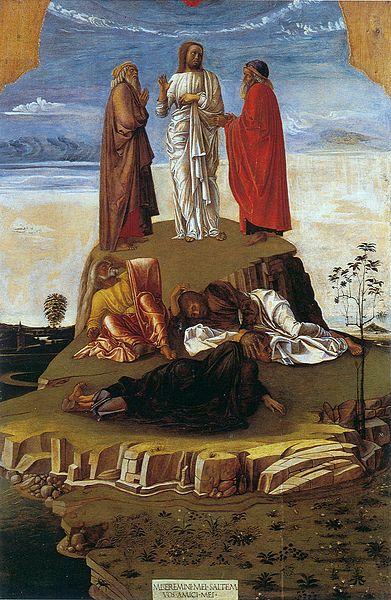 Giovanni Bellini. Transfiguration. Circal 1455. Museo Correr, Venice.