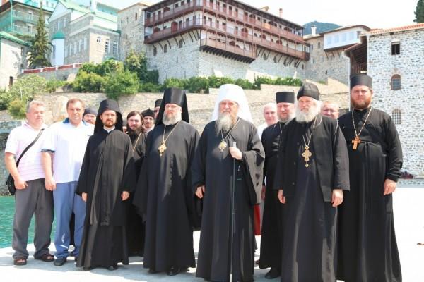 Russian monastery of St. Panteleimon on Mount Athos celebrates its patron saint's day