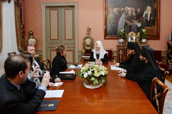 Primate of Russian Orthodox Church meets with ambassador of Israel, Ms. Dorit Golender