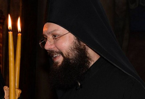 On Mount Athos a Monk Falls Into a Precipice While Hurrying to Aid Victims of an Accident