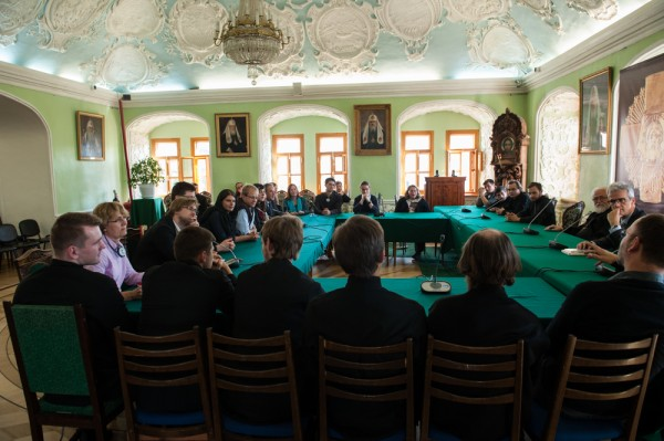 Students from departments of theology in Germany visit Sergiev Posad
