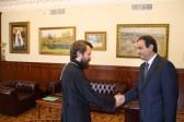Metropolitan Hilarion meets with Lebanon's Ambassador to Russia