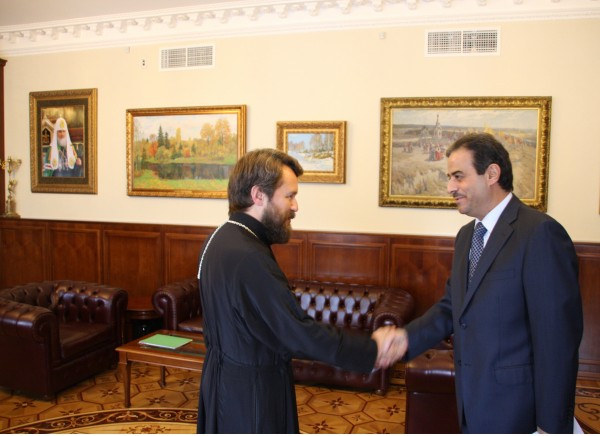 Metropolitan Hilarion meets with Lebanon's Ambassador to Russia